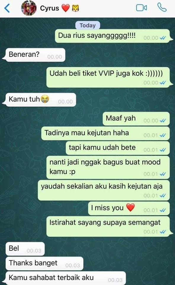 chat surprise sedih banget © Twitter/@hanmula