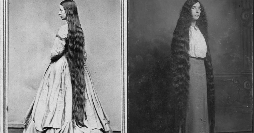 14 Potret rambut panjang cewek tahun 1800-an, tak pernah potong