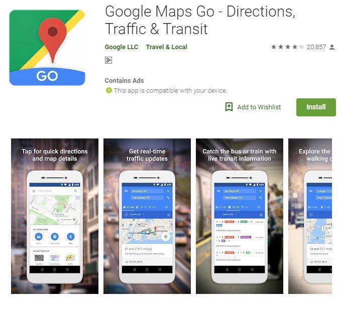 Google Maps nyasar google.play
