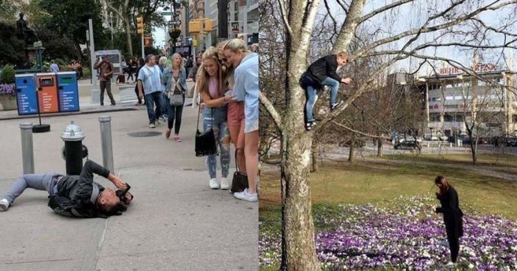26 Foto susahnya jadi cowok demi Instagram pacar banyak follower