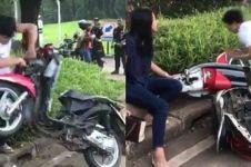 Ojek online beri kejutan cewek motornya dirusak saat ditilang