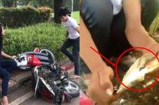 Usai heboh rusak motor, beredar video Adi Saputra bakar STNK