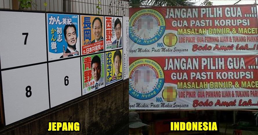 5 Foto poster kampanye caleg di Jepang ini rapi, Indonesia bisa tiru
