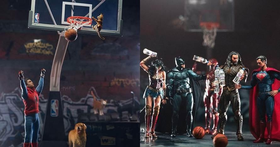 10 Ilustrasi para superhero tanding basket, rusuh banget