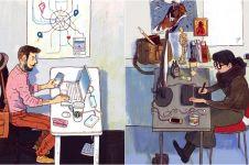 12 Ilustrasi meja kerja macam-macam profesi, kamu bisa tebak?