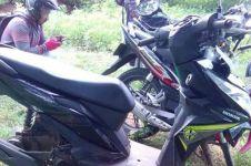 Ditinggal mancing, motor pria ini kedua rodanya digondol pencuri