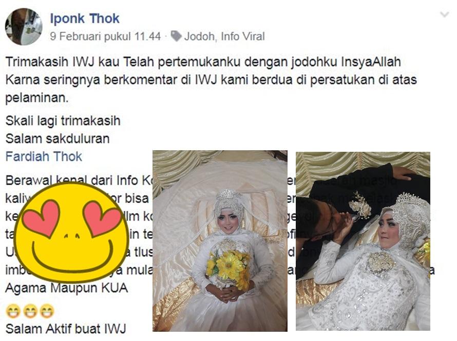 Pria ini ketemu jodoh & menikah gara-gara adu komentar di Facebook