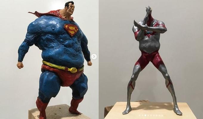 10 Patung superhero dari clay ini bukannya sangar malah nyeleneh