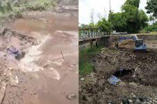 Ini penjelasan Sutopo soal heboh lubang besar di Sungai Kuning
