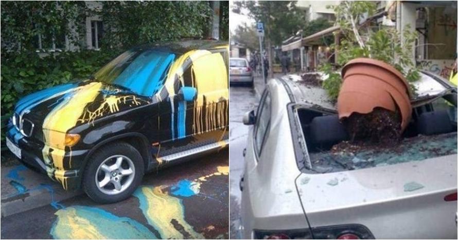 20 Hukuman karena parkir sembarangan ini dijamin bikin kapok