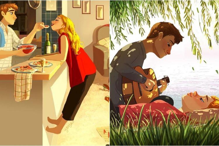 12 Ilustrasi Gambarkan Hal Romantis Menambah Rasa Cinta Ke Pacar