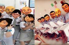 12 Editan foto Upin Ipin sekolah di Indonesia ini bikin ketawa