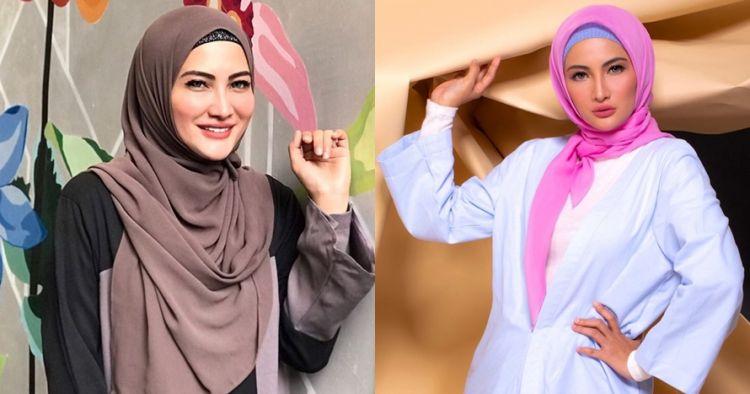 10 Inspirasi gaya hijab Natalie Sarah, simpel dan elegan