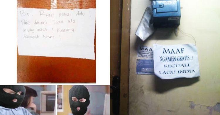 12 Pesan lucu di depan pintu rumah ini bikin tepuk jidat