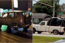 15 Aksi membahayakan pengendara roda empat, bikin ngelus dada