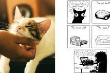 12 Ilustrasi kebiasaan manusia bareng hewan peliharaannya, kocak