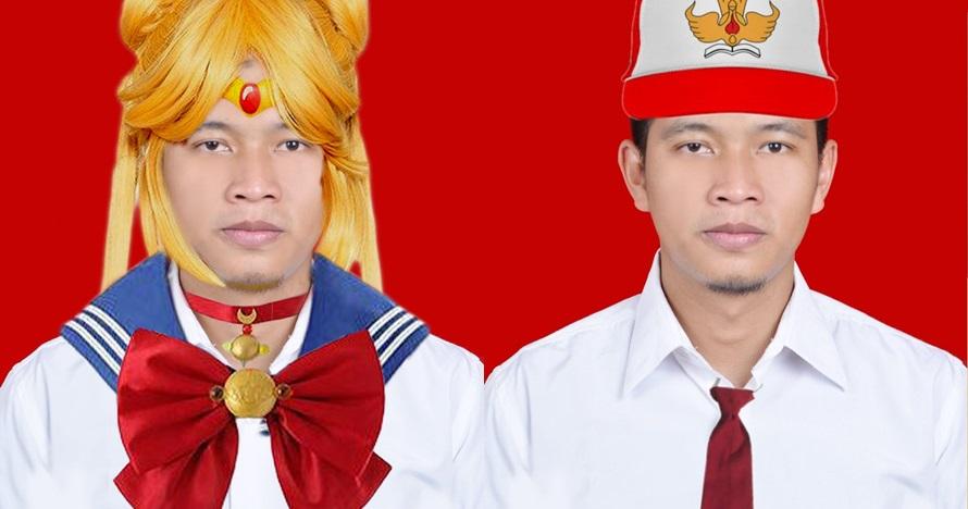 11 Foto editan cowok minta ditambahin dasi merah ini kocak abis