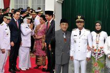 Gaya istri 7 kepala daerah dampingi suami pelantikan, memesona