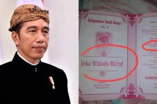 Orangtuanya ngefans berat, bayi ini dinamai Joko Widodo Ma'ruf