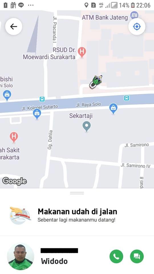 pesan pizza driver tewas © Facebook/ratna.hapsari.315