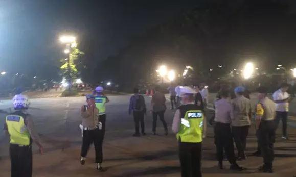 Ada ledakan keras di dekat nobar debat capres, ini kata saksi