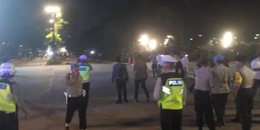 Ini keterangan polisi soal ledakan di dekat nobar debat capres