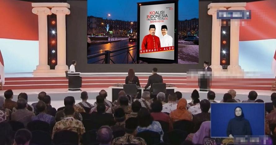 10 Editan layar Debat Capres 2019, kocaknya sampai bikin mules