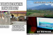 12 Meme lucu liburan low budget ini bikin nyengir kuda
