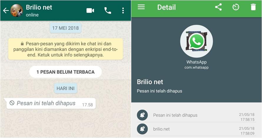 Cara mudah baca pesan WhatsApp yang dihapus, simpel & cepat