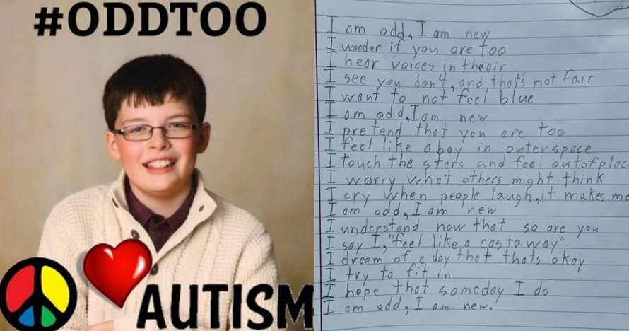 Puisi 'aku aneh' anak autis ini bikin tak kuasa menahan air mata