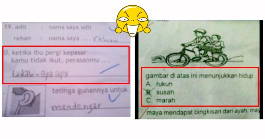 12 Jawaban soal Bahasa Indonesia ini absurdnya bikin tepuk jidat