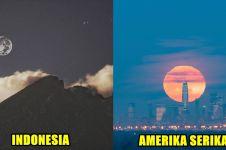 11 Potret fenomena langka Super Snow Moon dari berbagai negara