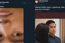 10 Ekspresi lucu Kaesang saat ikut Jokowi jenguk Ani Yudhoyono