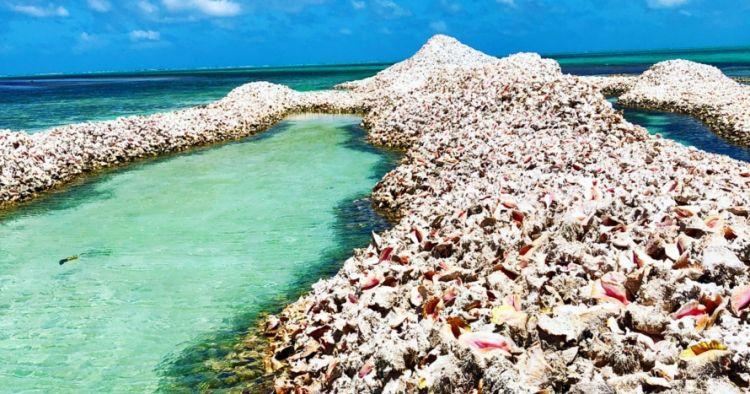 Pulau ini terbuat dari jutaan cangkang keong, ini 10 potretnya