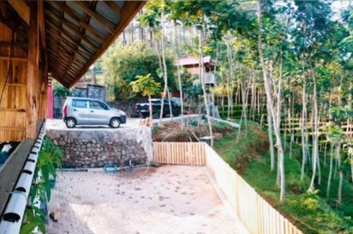 rumah Dodit Mulyanto di hutan istimewa