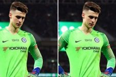 Video momen saat kiper Chelsea termahal di dunia menolak diganti