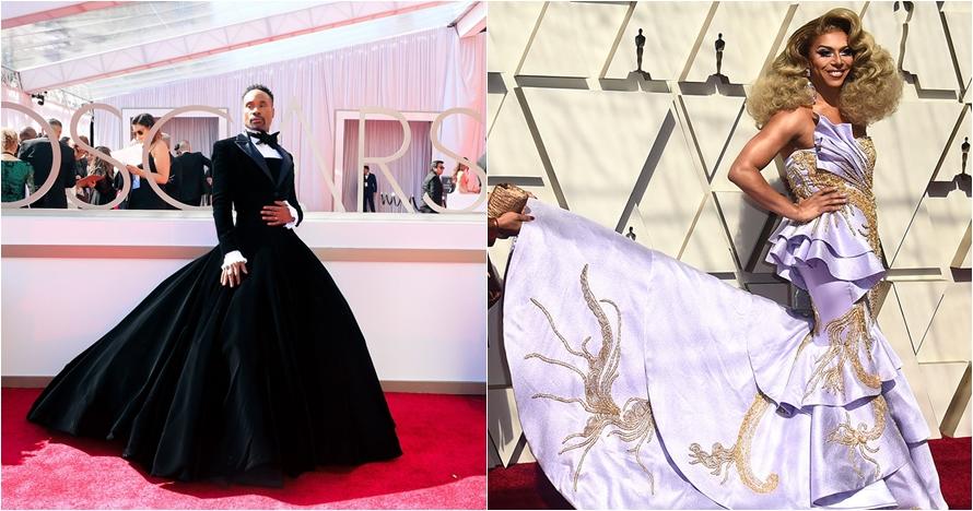 11 Seleb kenakan busana unik di red carpet Piala Oscar 2019