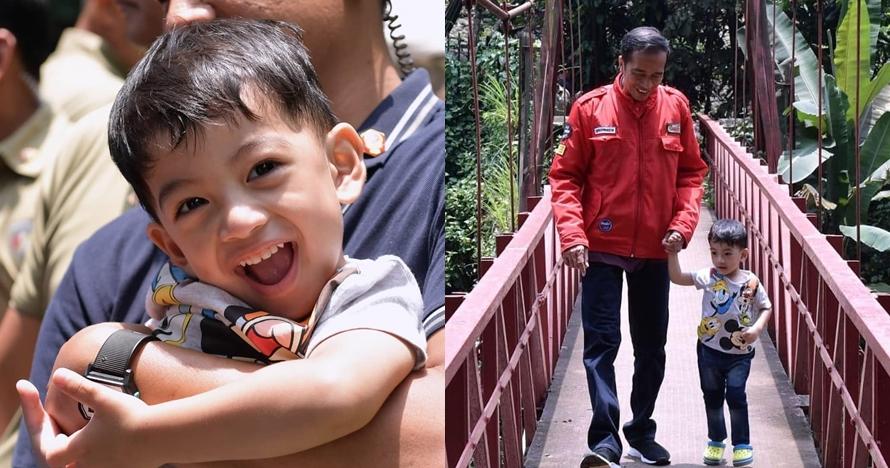 10 Gaya Jokowi momong cucu di Kebun Raya, aksi Jan Ethes bikin gemas