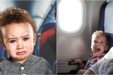 Cara ibu minta maaf saat bayinya menangis di pesawat ini unik abis