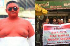 10 Potret totalitas suporter dukung Timnas U-22 di Pnom Penh