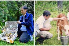 9 Beda gaya refreshing Jokowi & Prabowo, punya ciri khas