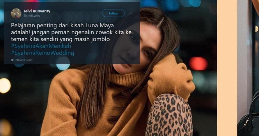 Syahrini & Reino nikah, ini 7 dukungan netizen untuk Luna Maya