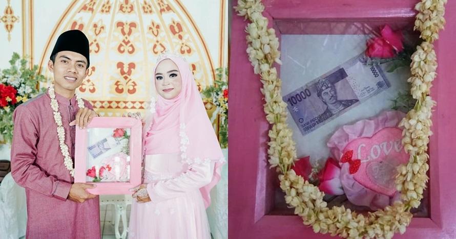 Viral pernikahan mahar Rp 10 ribu ini punya alasan romantis