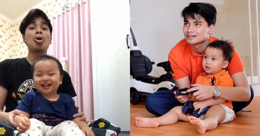 7 Aksi jahil Alvin Faiz mengasuh putranya, si anak nangis kejer