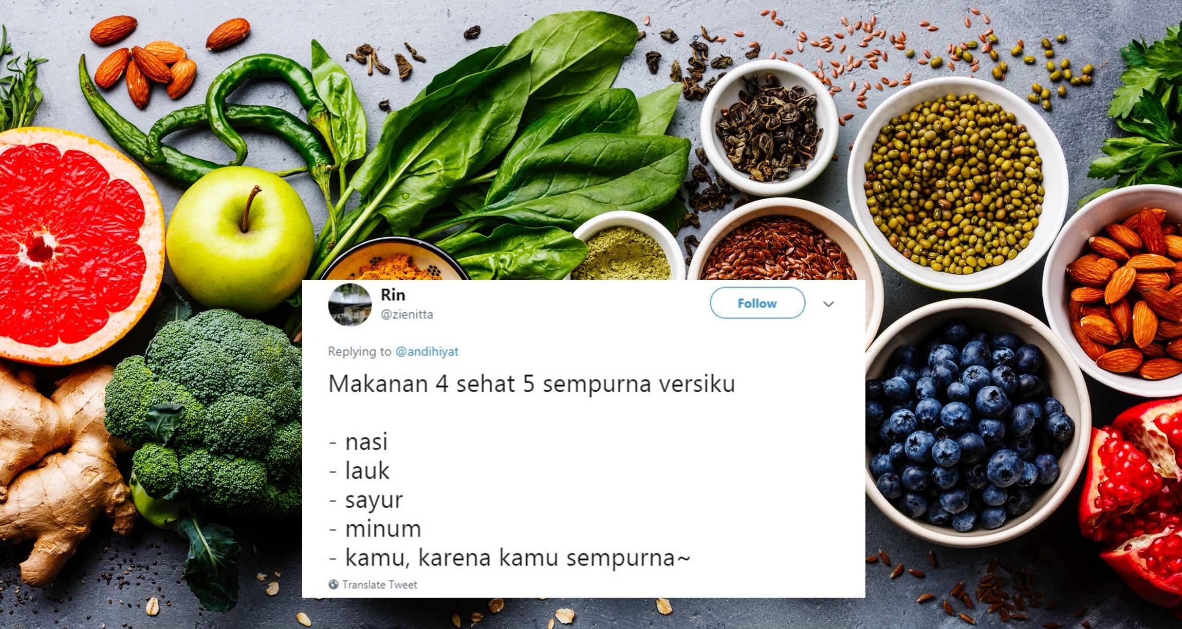 10 Varian menu 4 sehat 5 sempurna ini malah bikin tepuk jidat