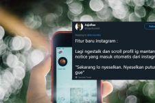 10 Cuitan lucu 'fitur baru Instagram' ini bikin tersenyum kecut