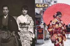 Pemotretan 6 pasangan seleb berbalut busana khas Jepang, serasi