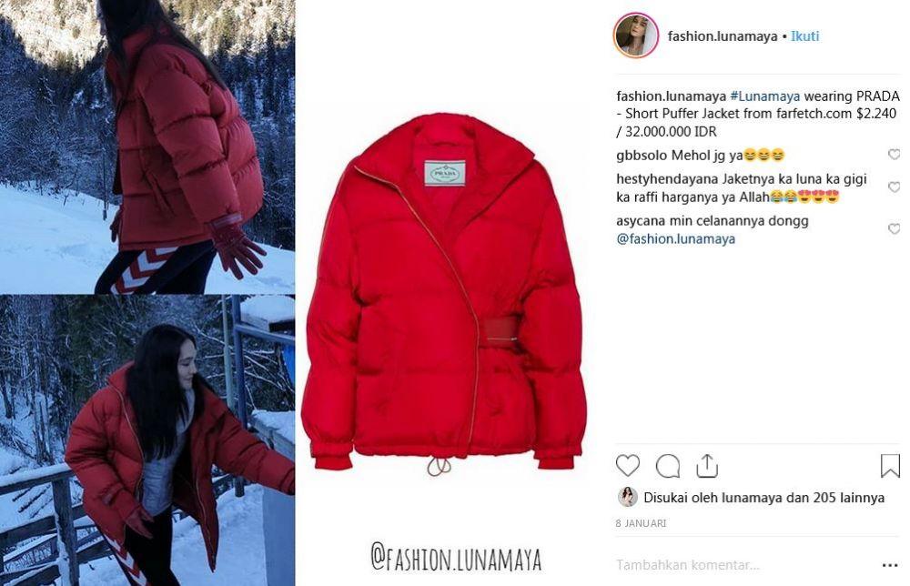 jaket luna maya instagram