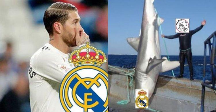 7 Meme lucu kekalahan Real Madrid dari Ajax bikin sesak di dada