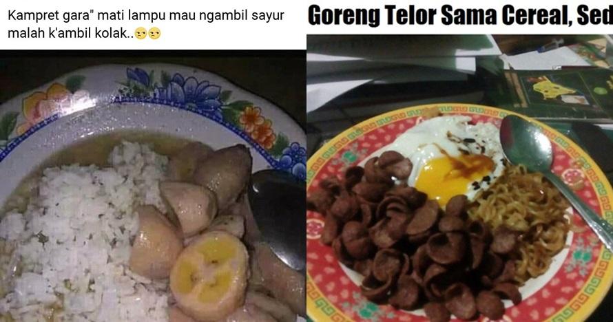 12 Menu makan orang Indonesia ini absurd, semua dicampur pakai nasi